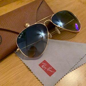 Ray Ban Polarized Sunglasses, Aviator Gradient
